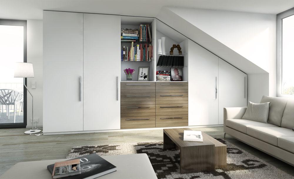mit einem schrank unterm dach raum gewinnen. Black Bedroom Furniture Sets. Home Design Ideas
